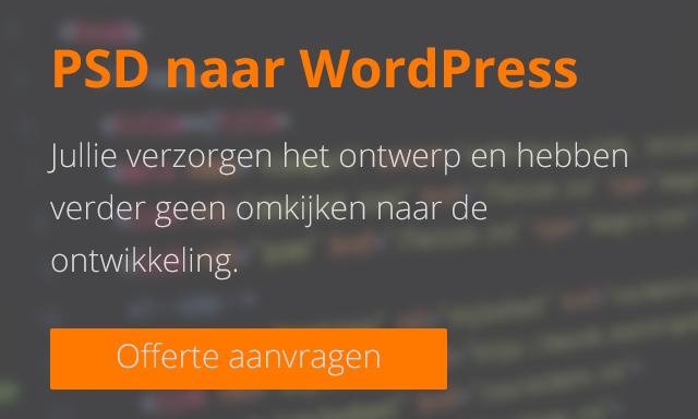 Offerte aanvragen - PSD naar WordPress